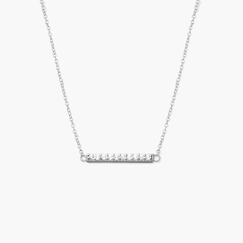 Stardust Bar Necklace - Silver product photo