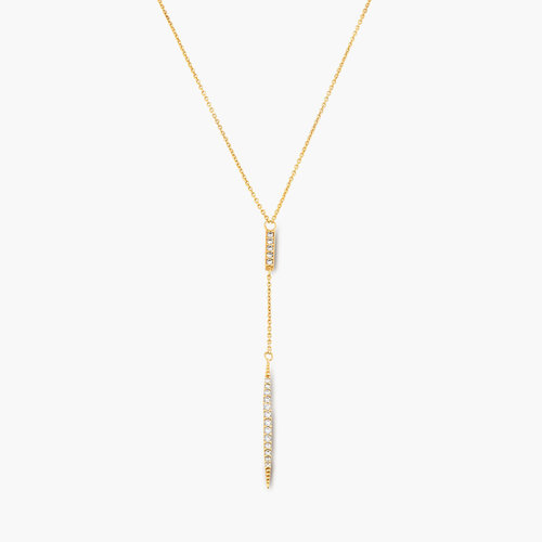 Elle Necklace with Cubic Zirconia - Gold Plated product photo