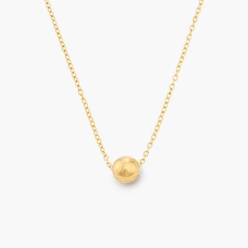 Ball & Chain Necklace - Gold Plated product photo