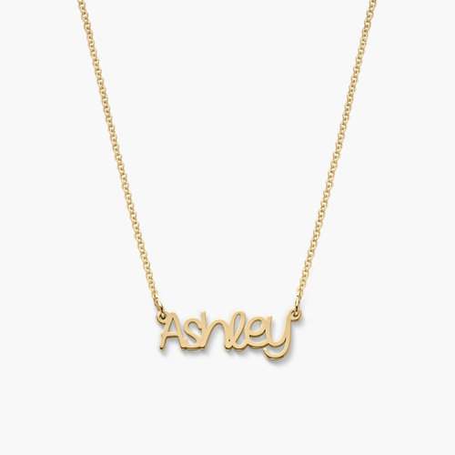 Pixie Name Necklace - Gold Vermeil product photo