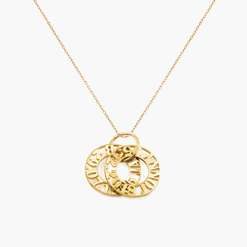 TOKENS OF LOVE NECKLACE - 14K SOLID GOLD product photo
