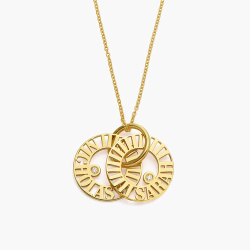Tokens of Love Necklace with Diamond - Gold Plated product photo