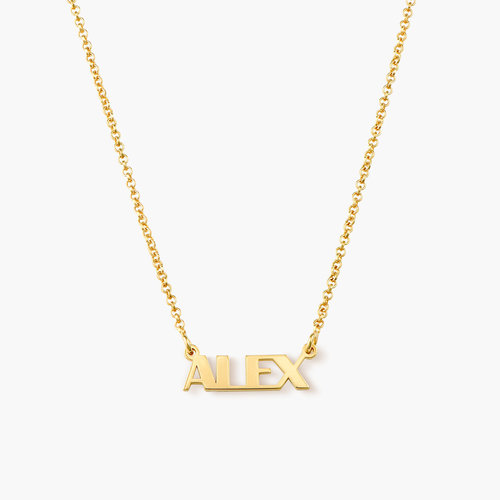 Gatsby Name Necklace - Gold Plated product photo