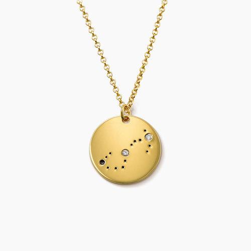 Scorpio Zodiac Necklace with Diamonds - Gold Plated product photo