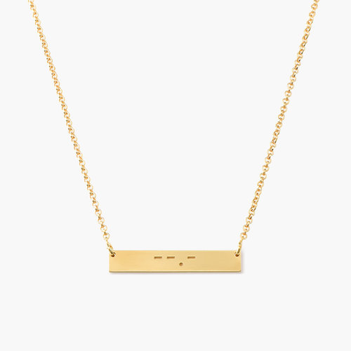 Crack the Code - Morse Code Necklace - Gold Plated product photo