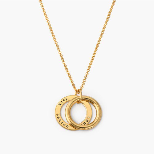 Hidden Message Engraved Necklace - Gold Plated product photo