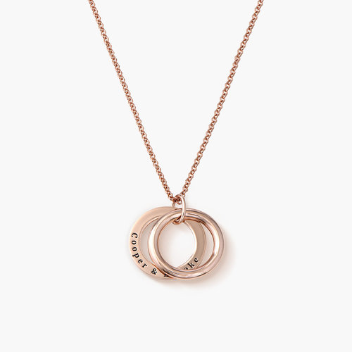 Hidden Message Engraved Necklace - Rose Gold Plated product photo