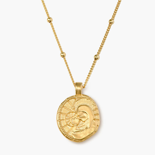 Faith Vintage Coin Necklace - Gold Plated product photo
