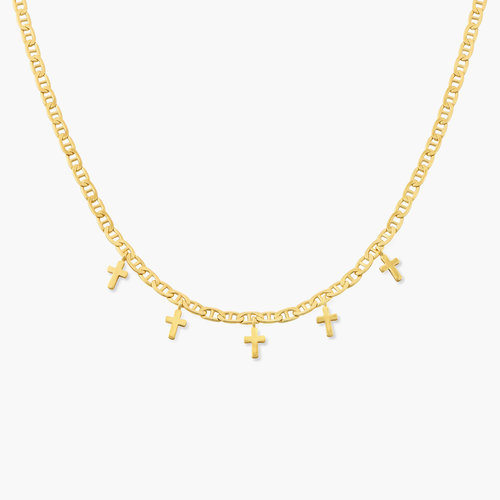 Multi-cross necklace - Gold Plated product photo