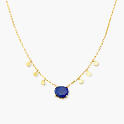 Blue Stone Necklace - Gold Plated product photo