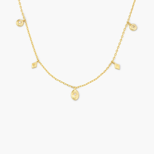 Ethereal Drops Necklace - Gold Plated product photo