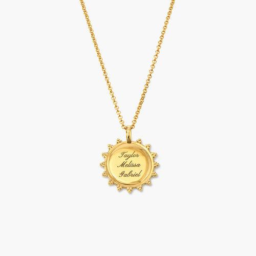Fusion Sun Necklace - Gold Vermeil product photo