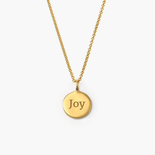 Cosette Engraved Disc Necklace - Gold Plated product photo
