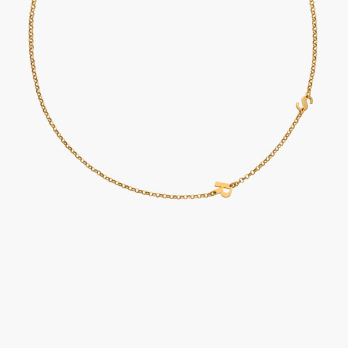 Mini Initial Necklace - Gold Vermeil product photo