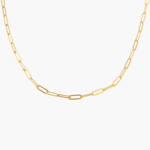 Chain Link Necklace in 18K Gold Plating product photo