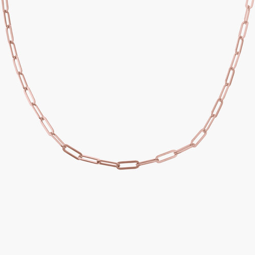 Chain Link Necklace in 18K Rose Gold Plating product photo
