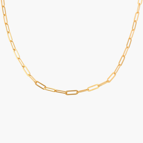 Chain Link Necklace in 18K Gold Vermeil product photo