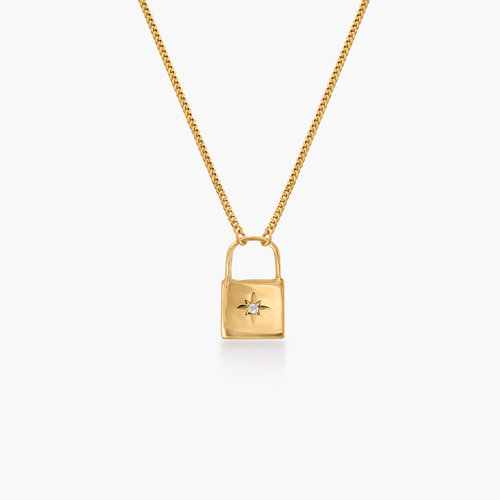 Love Letter Lock Chain - Gold Plated product photo
