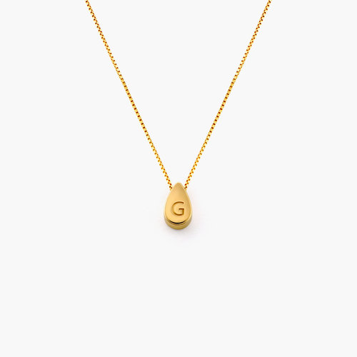 Teardrop Initial Necklace - Gold Vermeil product photo