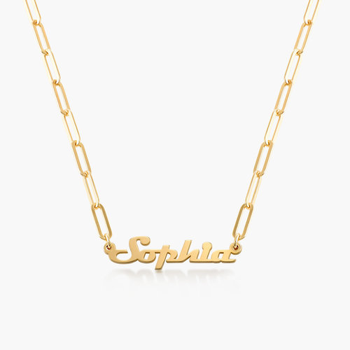 Link Chain Name Necklace - Gold Plated product photo