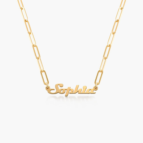 Link Chain Name Necklace - Gold Vermeil product photo