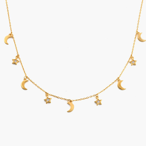 To the Moon and Back Necklace - Gold Plated product photo
