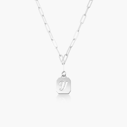 Chain Reaction Initial Necklace - Sterling Silver product photo