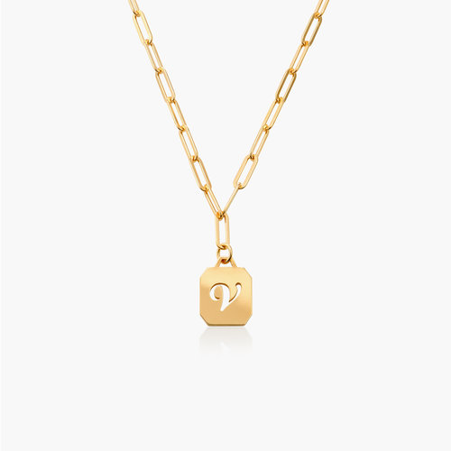 Chain Reaction Initial Necklace - Gold Plated product photo