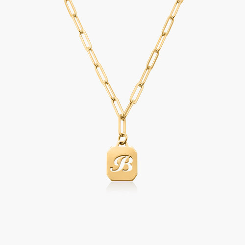 Chain Reaction Initial Necklace - Gold Vermeil product photo
