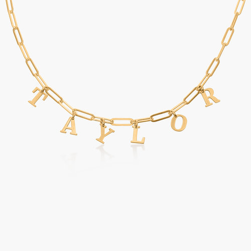 What's My Name Link Choker - Vermeil product photo