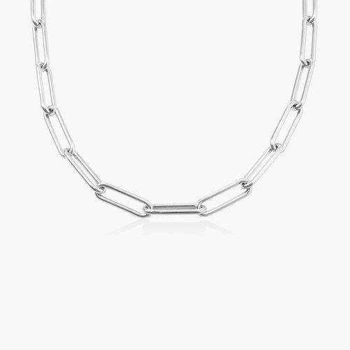 Large Link Chain Necklace - Sterling Silver product photo