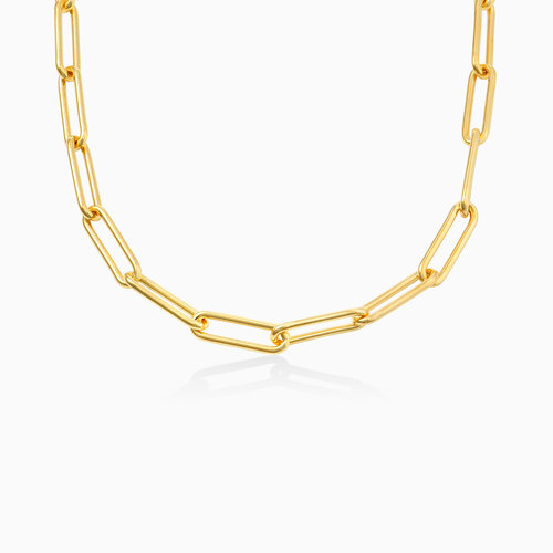 Large Link Chain Necklace - Gold Vermeil product photo