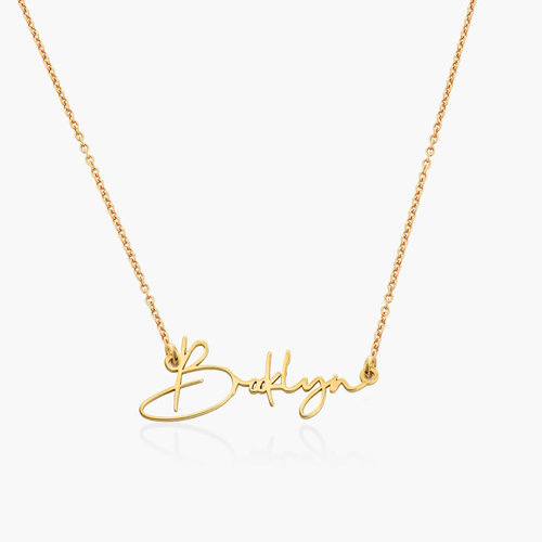 Belle Custom Name Necklace - Gold Plating product photo