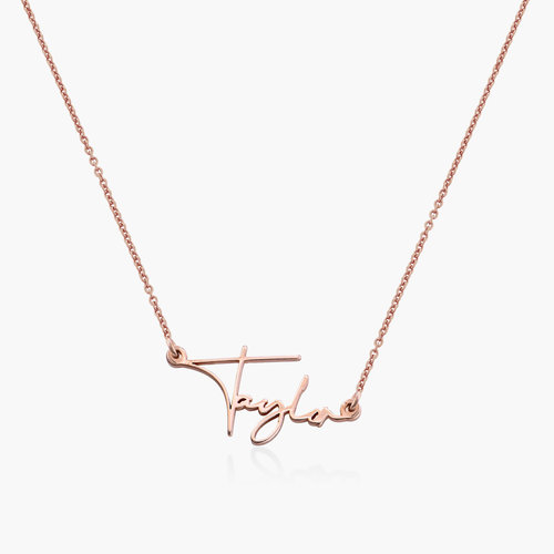 Belle Custom Name Necklace - Rose Gold Plating product photo