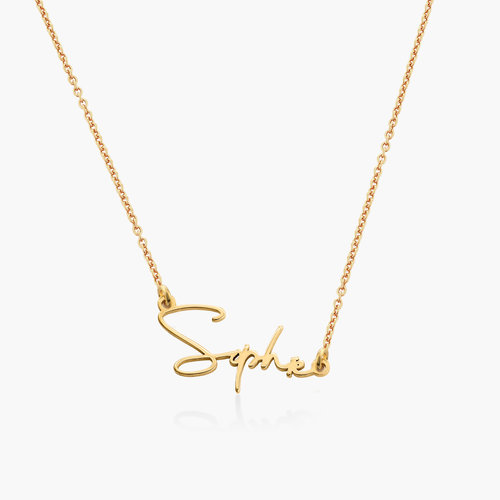 Belle Custom Name Necklace - Gold Vermeil product photo