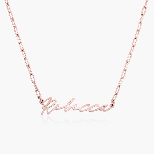 Coco Name Link Necklace - Rose Gold Plating product photo
