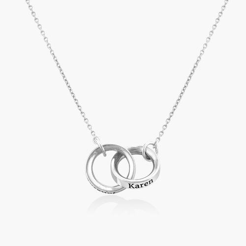 Interlocking Circle Necklace - Sterling Silver product photo