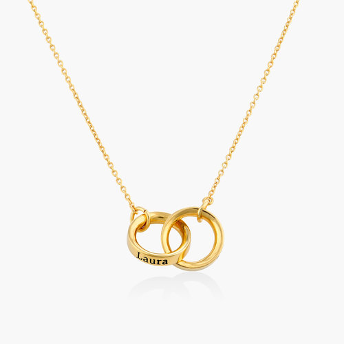 Interlocking Circle Necklace - Gold Plating product photo