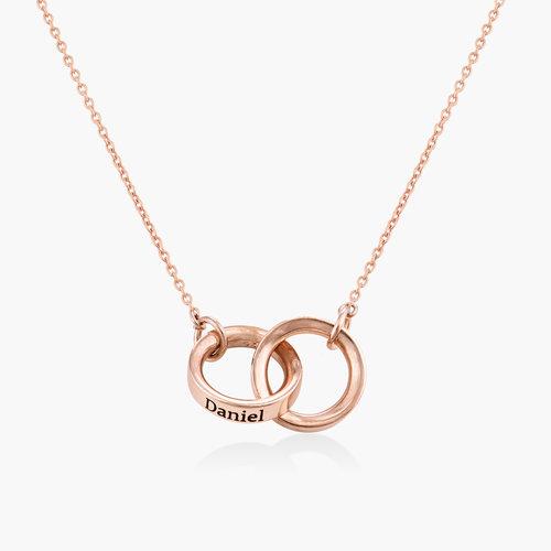 Interlocking Circle Necklace - Rose Gold Plating product photo