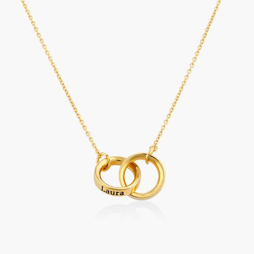 Interlocking Circle Necklace - Gold Vermeil product photo