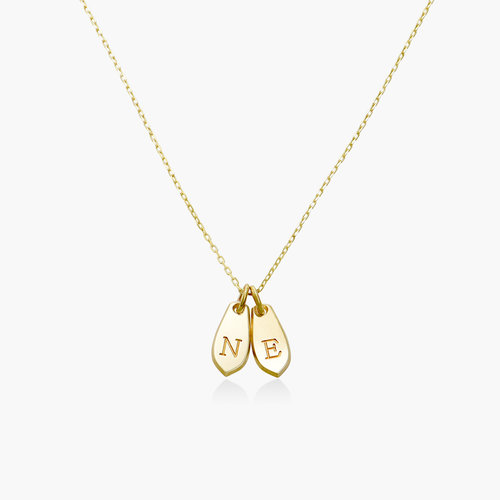 Willow Drop Initial Necklace - 14K Solid Gold product photo