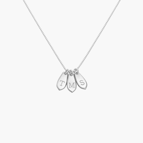 Willow Drop Initial Necklace - Sterling Silver product photo