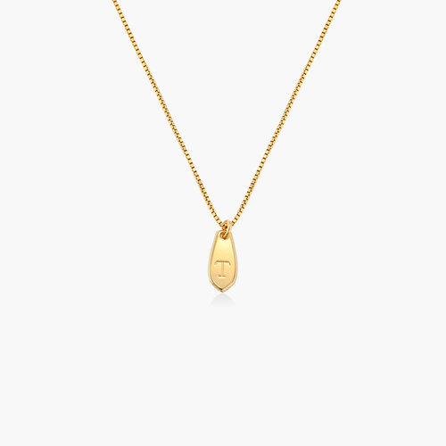 Willow Drop Initial Necklace - Gold Vermeil product photo