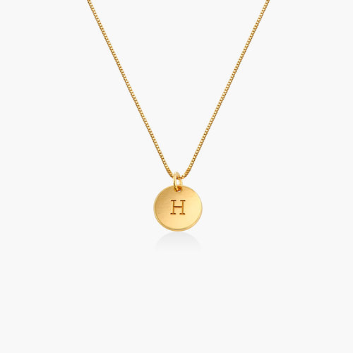 Willow Disc Initial Necklace - Gold Plating product photo