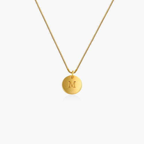Willow Disc Initial Necklace - Gold Vermeil product photo