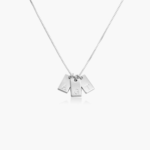 Willow Tag Initial Necklace - Sterling Silver product photo