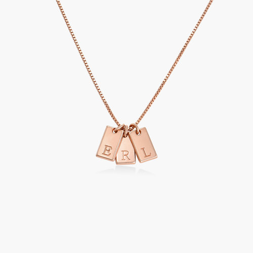 Willow Tag Initial Necklace - Rose Gold Plating product photo
