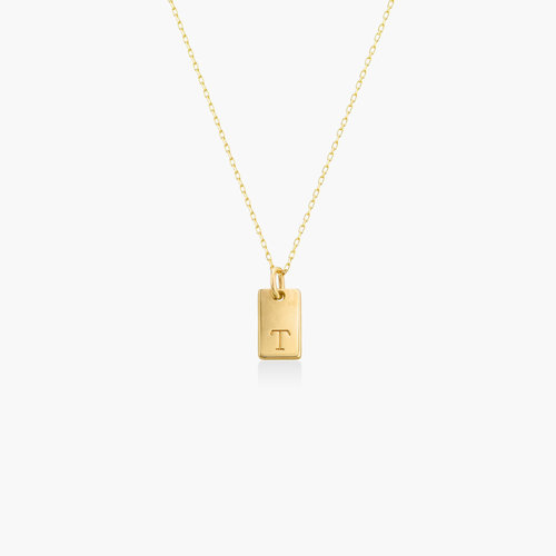 Willow Tag Initial Necklace - 10K Gold product photo