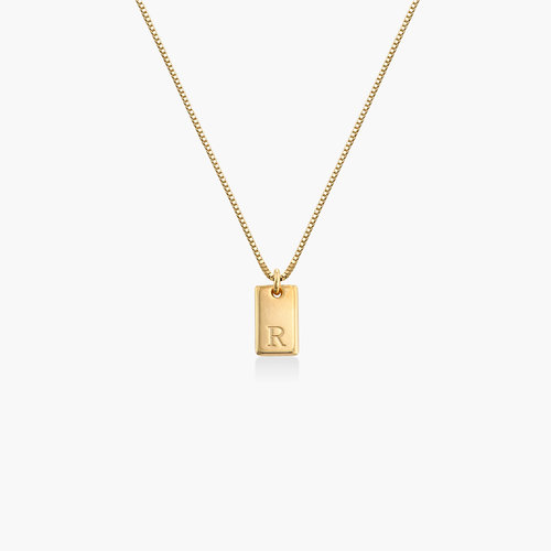 Willow Tag Initial Necklace - Gold Vermeil product photo