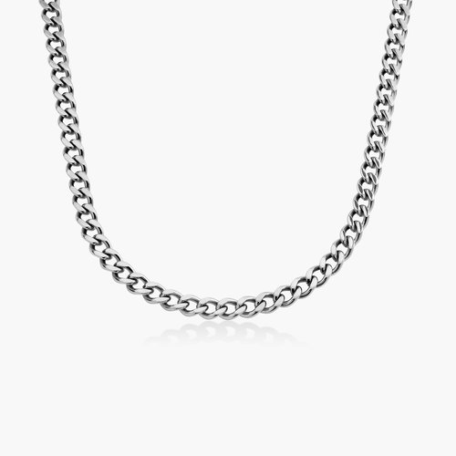 Tallulah Gourmette Chain Necklace - Stainless Steel product photo